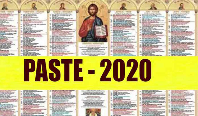 Când pică PAȘTELE în 2020