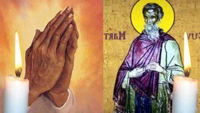 Photo of Rugăciune 13 februarie. Spune azi de 3 ori Rugăciunea aceasta scurtă a Sfântului Martinian pentru limpezirea minții și sufletului