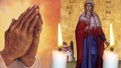 Photo of Rugaciune 17 iulie – Citeste azi, Rugaciunea Scurta a Sfintei Marina pentru iertare pacate si implinire dorinte